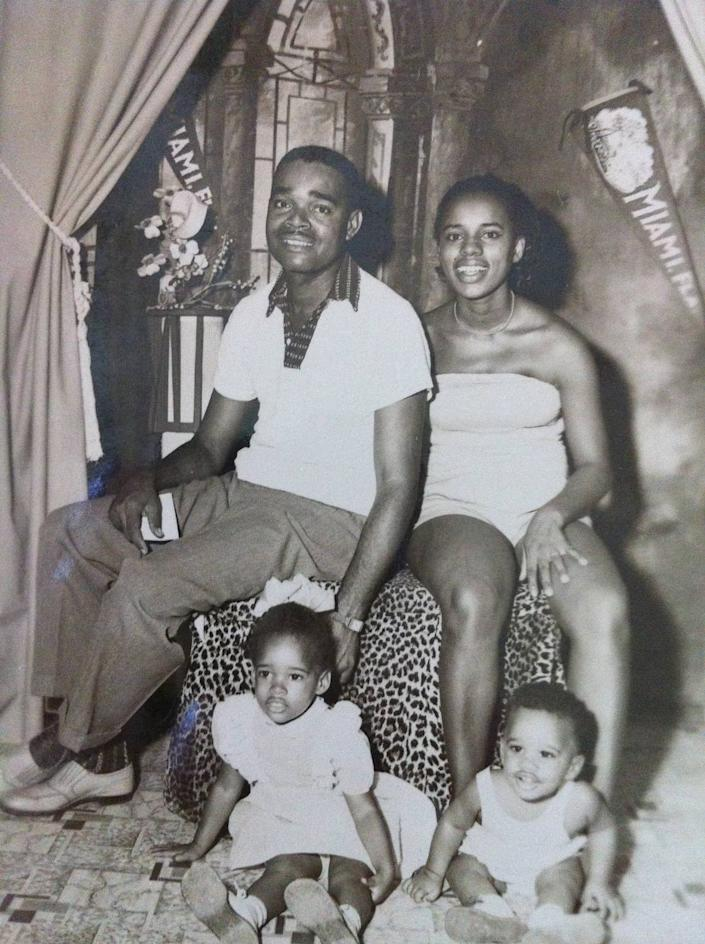 Garth Reeves with his family at their first home in Miami.