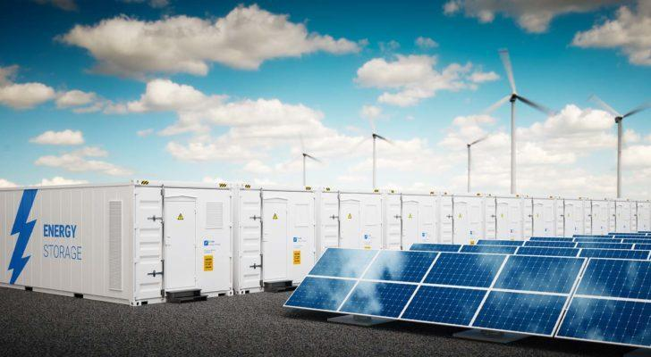 A concept photo of different energy storage systems.