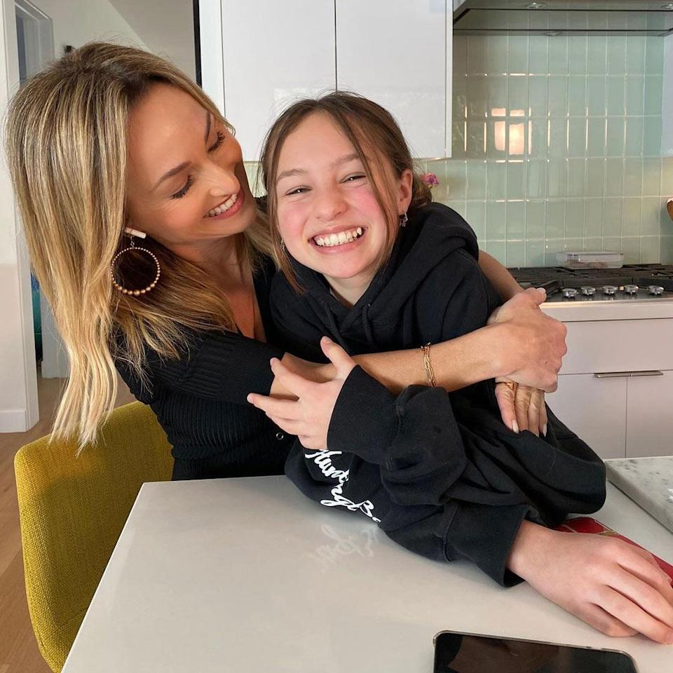 """<p>""""This one told me she was proud of me today & that's all I'll ever need,"""" the Food Network star captioned this <a href=""""https://www.instagram.com/p/CMc66MRnkF7/"""" rel=""""nofollow noopener"""" target=""""_blank"""" data-ylk=""""slk:sweet shot"""" class=""""link rapid-noclick-resp"""">sweet shot</a> in the kitchen with her daughter Jade, 12. """"#mommymoments,"""" she added.</p>"""