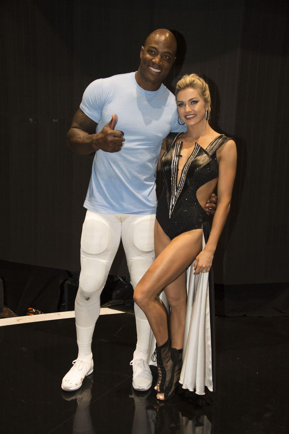 "<p>Former NFL player DeMarcus Ware is familiar with hard hits, but without his pads the ballroom almost took him out. After one rehearsal, his right index finger bent in ways nature never intended.</p><p>The former Superbowl champ shared a graphic video on <a href=""https://twitter.com/DeMarcusWare/status/1049769268743733250"" rel=""nofollow noopener"" target=""_blank"" data-ylk=""slk:Twitter"" class=""link rapid-noclick-resp"">Twitter</a> of his finger injury but didn't let that halt his dancing career.</p>"