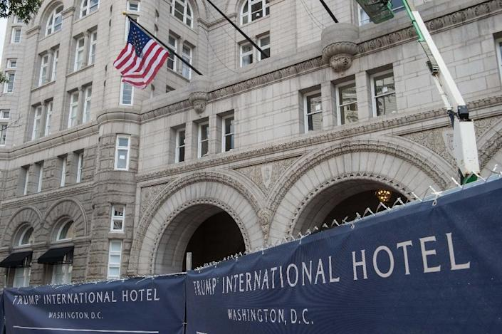 View of the construction of the Trump International Hotel in Washington, DC (AFP Photo/Nicholas Kamm)