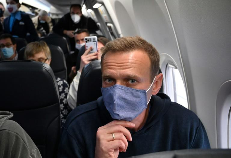 Navalny was detained after flying back to Russia in January