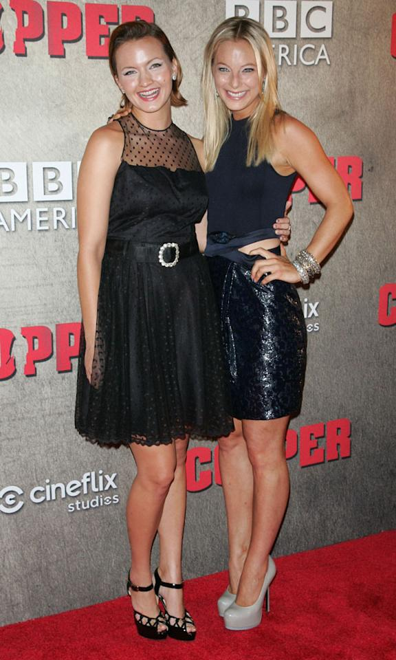 """Tanya Fischer and Anastasia Griffith attend the """"Copper"""" premiere at The Museum of Modern Art on August 15, 2012 in New York City."""