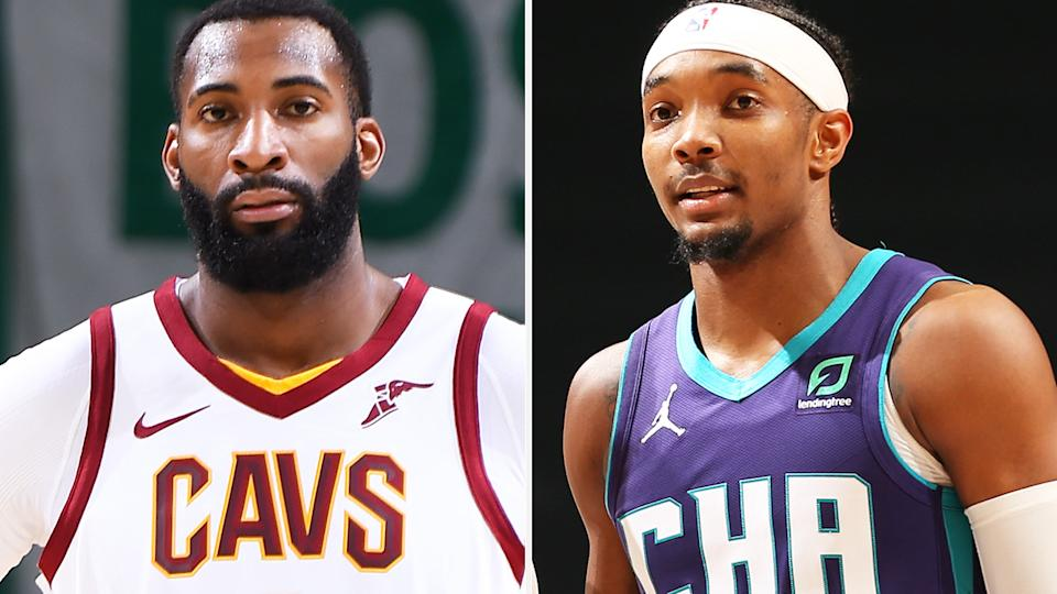 Cleveland's Andre Drummond and Charlotte's Devonte Graham were fantasy stars that have found themselves in tough situations mid-season. Pictures: Getty Images