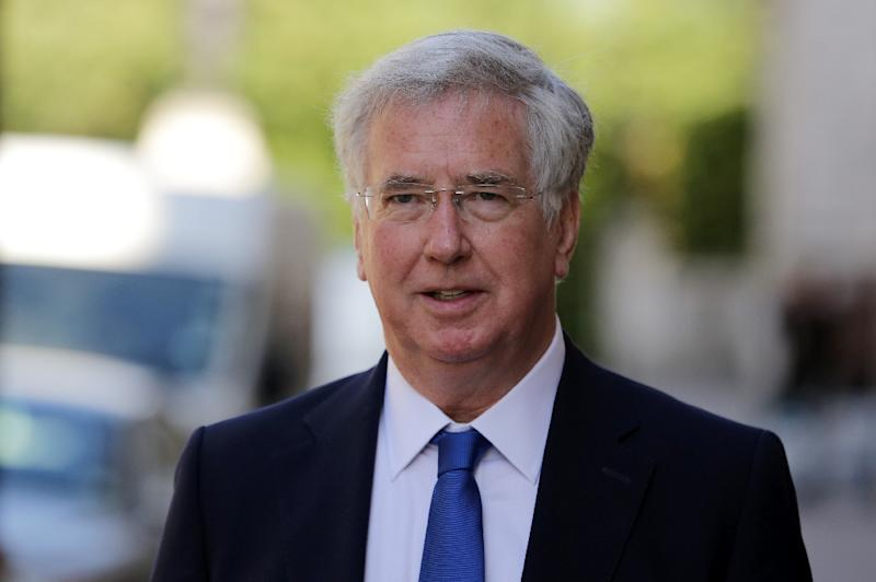 British Defence Secretary Michael Fallon, seen in 2016, said that 90 percent of the 675 current misconduct allegations involving British troops in Afghanistan were being dismissed