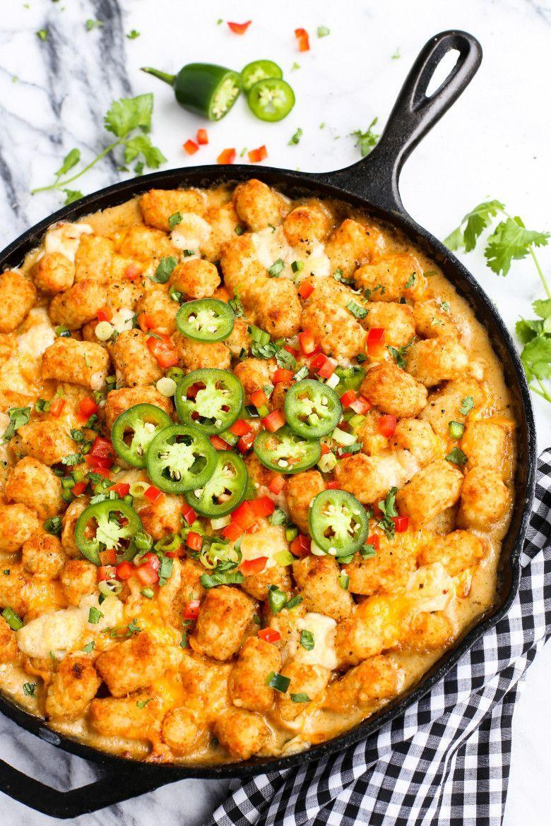 """<p>Sirloin steak, peppers, and mushrooms are all hiding under a layer of tater tots. This meal will bring out your inner child.</p><p><strong><a href=""""https://thepioneerwoman.com/food-and-friends/kicked-up-tator-tot-hotdish/"""" rel=""""nofollow noopener"""" target=""""_blank"""" data-ylk=""""slk:Get the recipe."""" class=""""link rapid-noclick-resp"""">Get the recipe.</a></strong></p>"""