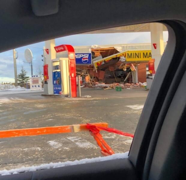 Photos on social media Saturday morning showed heavy damage to a Marie's Mini Mart in Conception Bay South.