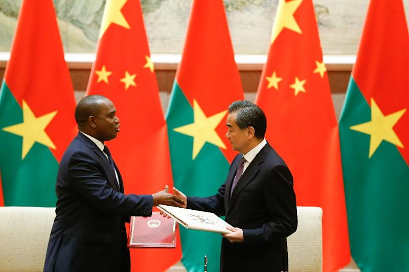 Burkina Faso established diplomatic relations with China days after breaking ties with Taiwan (AFP Photo/THOMAS PETER)