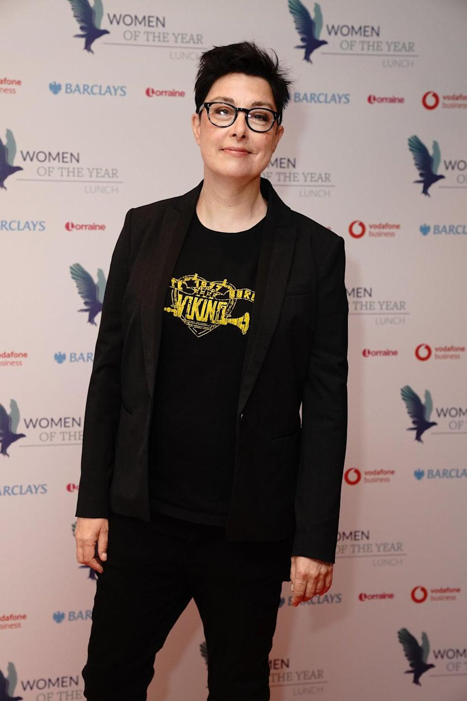 Host Sue Perkins arrives for the 67th annual Women of the Year event at the Royal Lancaster London hotel in London (Jonathan Brady/PA) (PA Wire)