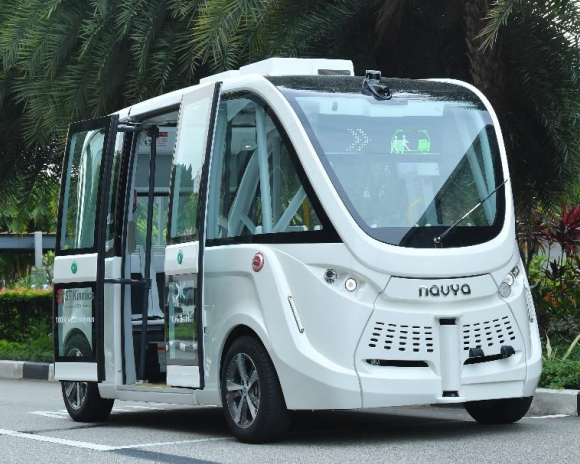 The smaller on-demand autonomous vehicle which will be open to public for a trial run from 26 August to 15 November in Sentosa. (PHOTO: Ministry of Transport)