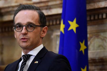 Germany's Foreign Minister Heiko Maas speaks during a news conference in Dublin