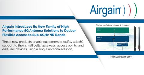 Airgain Introduces Family of High Performance 5G Antenna