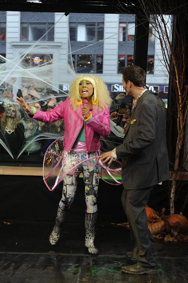 "<p class=""MsoNormal"">Robin Roberts dressed as the spirited, bestselling rap artist, Nicki Minaj. </p>"