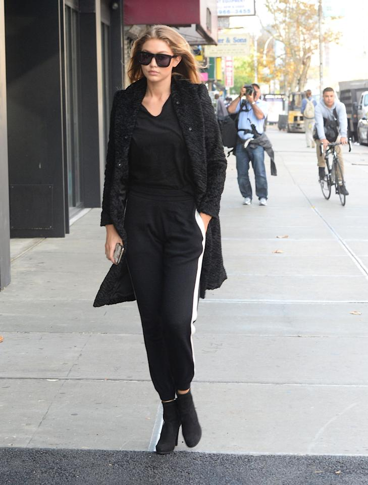 <p>What's the opposite of burying the lede? Because I'm just going to blurt out the thesis now: There is really no distinction between gym and street and wherever-you-want anymore, thanks to a loosening of social and sartorial norms and celebrities like Gigi Hadid treating sweats as regular trousers. </p>