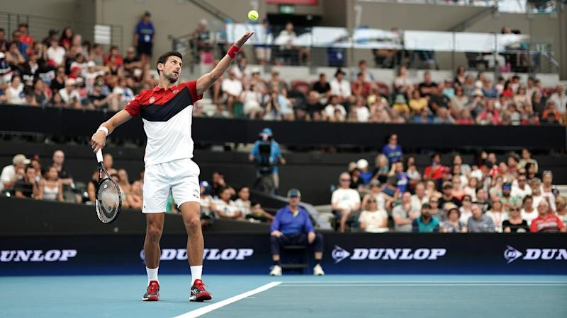Novak Djokovic led Serbia to victory over Chile in their ATP Cup tie in Brisbane on Wednesday