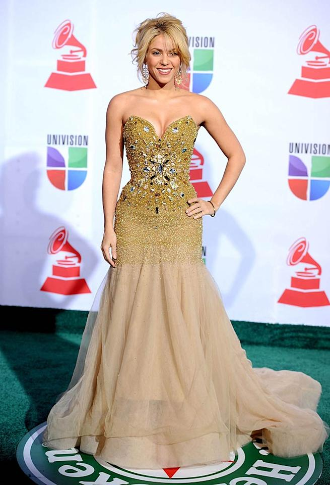 Songstress Shakira is having quite the week. On Tuesday the 34-year-old just received the ultimate showbiz honor  with a star on the Hollywood Walk of Fame. Just two days later, at the Latin Grammys, she was bestowed with the Person of the Year award. (11/10/2011)