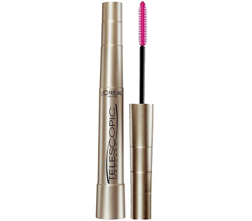 """<p><strong>Product:</strong> <span>L'Oreal Paris Makeup Telescopic Original Lengthening Mascara, Black</span> ($6)</p> <p><strong>Customer Review:</strong> """"I've tried every mascara there is under the sun, and the first stroke of this on my lashes for the very first time I was blown away! It's what I had been looking for all this time! Mega lengthening and separates your lashes so absolutely no clumps. Left with beautiful, long batting eyelashes! I would highly suggest to everyone and anyone. My eyelashes normally are kinda resistant to curling and separating (they all wanna clump together), also they grow straight out. So this is mind-boggling! """"</p>"""