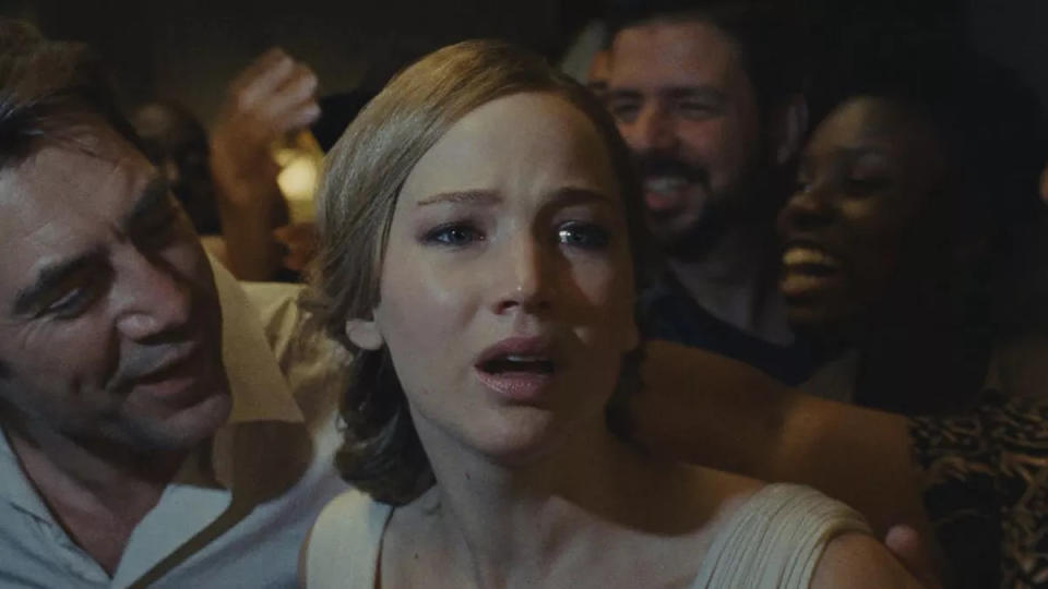 Jennifer Lawrence stars in Darren Aronofsky's bizarre horror 'mother!'. (Credit: Paramount)