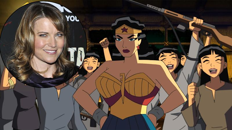 Lucy Lawless, inset, voiced Wonder Woman in 'Justice League'