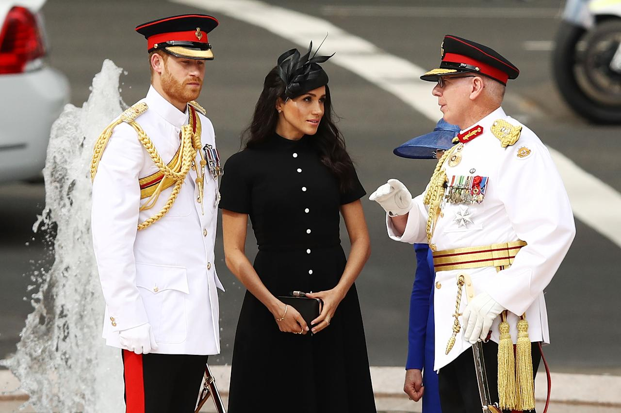 <p>On day five of their royal tour, the Duke and Duchess of Sussex were greeted by hundreds of spectators in Sydney's Hyde Park.<br />Prince Harry and Meghan Markle were there to attend the opening of an extension of the Anzac Memorial.Harry was dressed in full military uniformHarry was dressed in full military uniformSource: Getty </p>