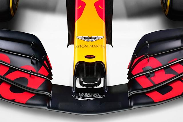 """Red Bull Racing RB16, dettaglio del muso <span class=""""copyright"""">Red Bull Content Pool</span>"""