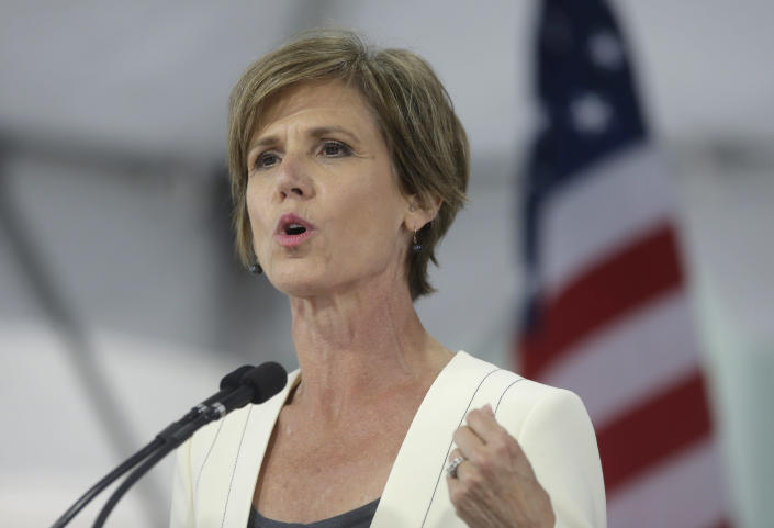 Former acting Attorney General Sally Yates. (Photo: Steven Senne/AP)