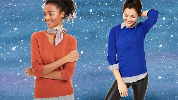 These sweaters are oh-so-soft.