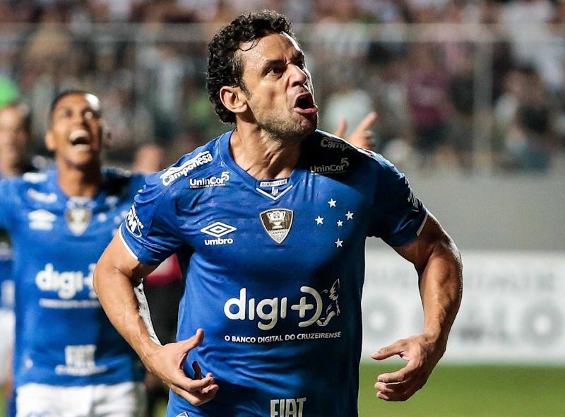 Fred marcou o gol que determinou o título do Cruzeiro. Foto: Antildes Bicalho/ Gazeta Press