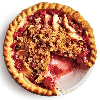 """<p>Pair fresh sliced rhubarb with sliced Granny Smith apples and add a little cinnamon and sugar for this delicious rhubarb-apple <a href=""""https://www.myrecipes.com/pie-recipes/"""" rel=""""nofollow noopener"""" target=""""_blank"""" data-ylk=""""slk:pie"""" class=""""link rapid-noclick-resp"""">pie</a>. </p><p><a href=""""https://www.myrecipes.com/recipe/rhubarb-apple-pie"""" rel=""""nofollow noopener"""" target=""""_blank"""" data-ylk=""""slk:Rhubarb-Apple Pie Recipe"""" class=""""link rapid-noclick-resp"""">Rhubarb-Apple Pie Recipe</a></p>"""