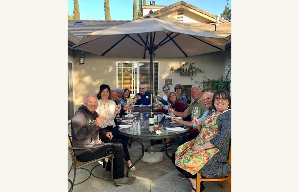 This undated image provided by Karla Robles shows a family gathering outdoors in Los Angeles. With pandemic restrictions easing up around the country and vaccines widely available, this summer everyone seems to be getting back into the swing of social gatherings. But hosting guests in your home after hunkering down for so very long can be tricky. (Karla Robles via AP)