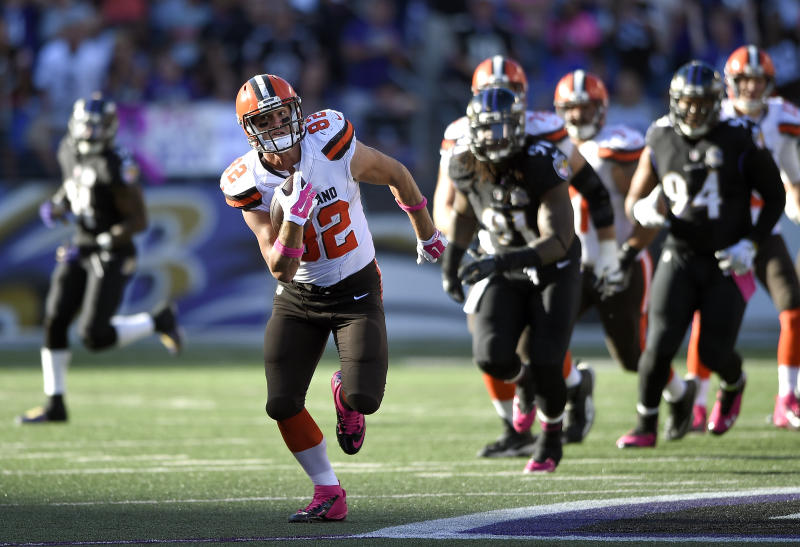 Cleveland Browns tight end Gary Barnidge didn't play after the 2016 season. (AP Photo/Nick Wass)