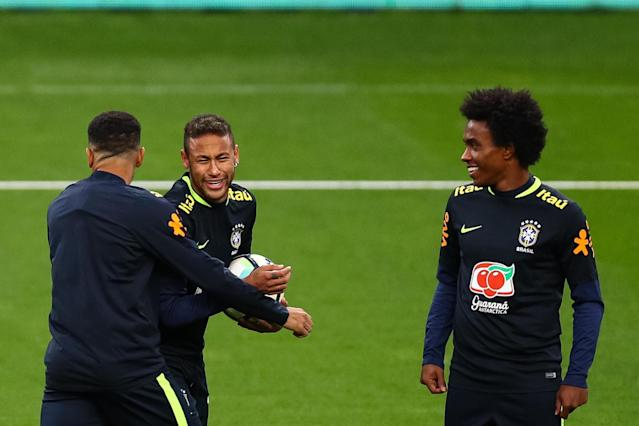 Brazil World Cup 2018 squad: Neymar joins Chelsea's Willian in final 23 as David Luiz is left out