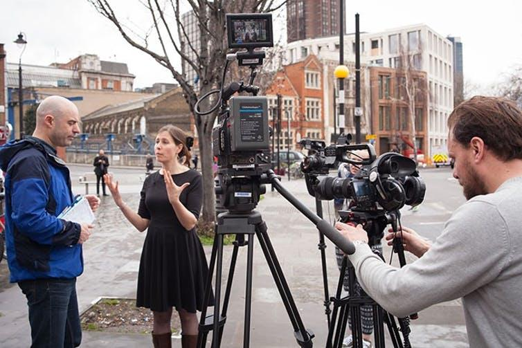 """<span class=""""caption"""">Filming in London.</span> <span class=""""attribution""""><span class=""""license"""">Author provided</span></span>"""