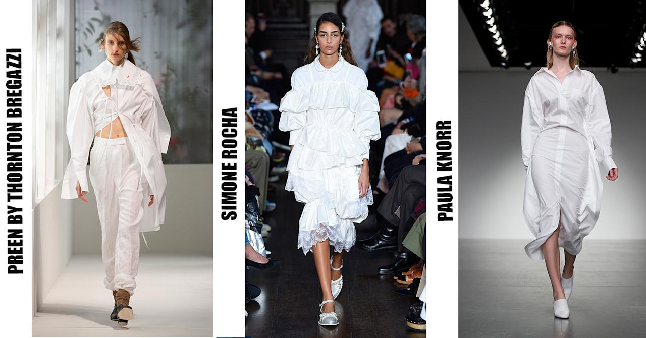 <p>Forget black for one moment, this season the fash pack are investing in all white garms. Take inspo from Simone Rocha and opt for ruffles come summer. </p>