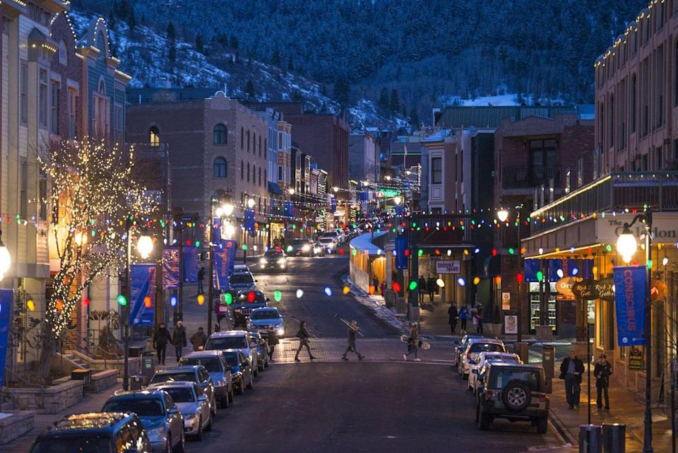 <p>Main Street in Park City, Utah, is known for it's bustling winter scene, nestled right between Deer Valley and Park City Mountain ski resorts. </p>