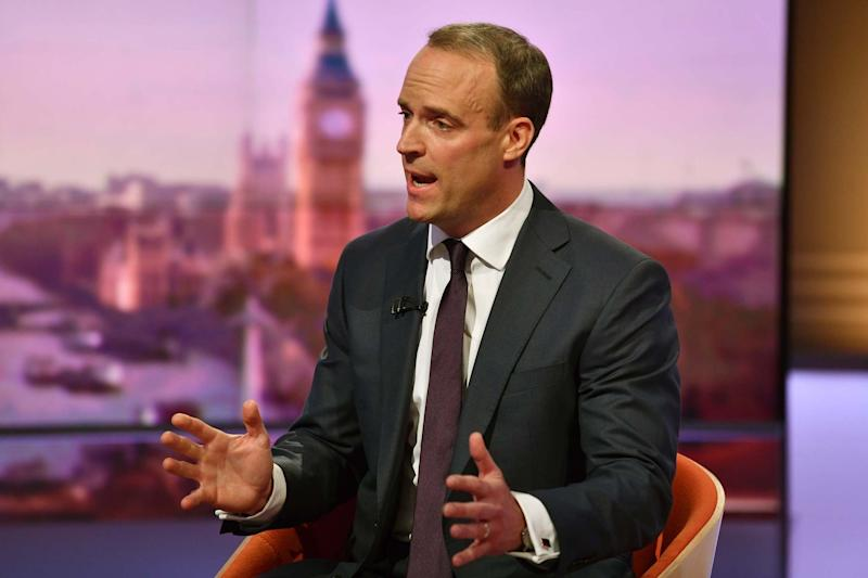 Tory leadership candidate Dominic Raab has vowed to keep a no-deal Brexit on the table (PA)