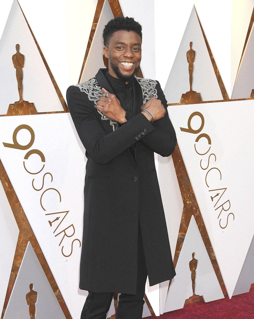 Chadwick Boseman at the 90th Annual Academy Awards (Oscars) presented by the Academy of Motion Picture Arts and Sciences. (Hollywood, CA, USA)