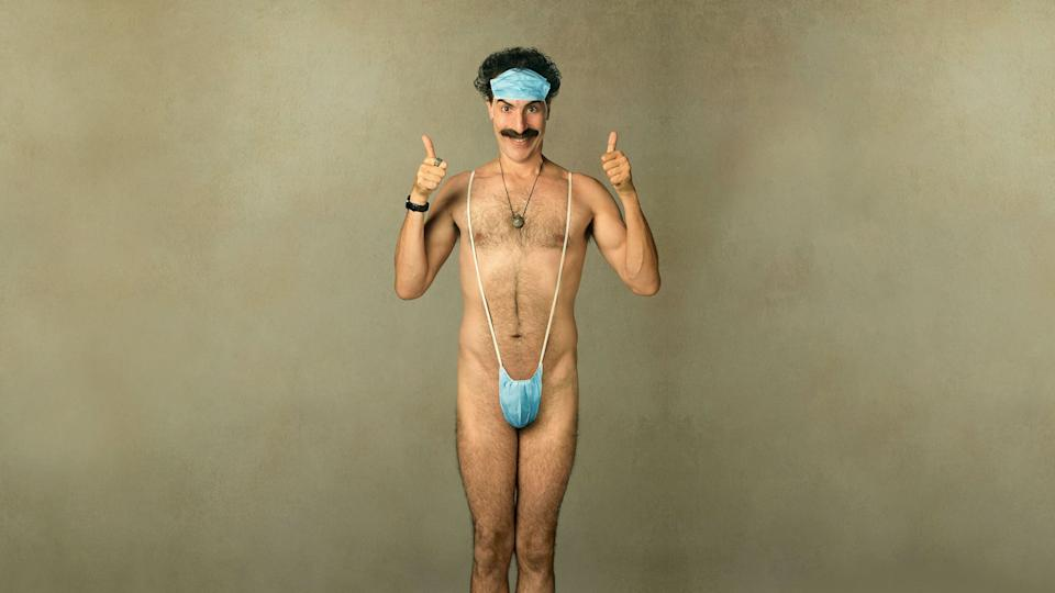 Sacha Baron Cohen as Borat in Borat: Subsequent Moviefilm.