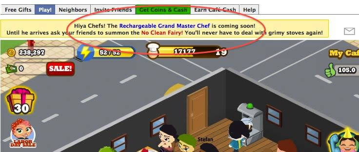 cafe world rechargeable grand master chef coming soon