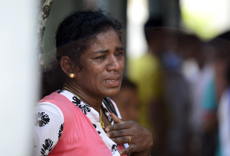 Many of the dead from attacks on three churches and three luxury hotels have been taken to the government morgue (AFP Photo/LAKRUWAN WANNIARACHCHI)