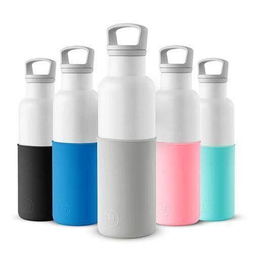 """A water bottle is arguably <a href=""""https://www.huffpost.com/entry/to-all-busy-people-5-thin_b_9499002""""><strong>one of the few things</strong></a> you shouldn&rsquo;t leave the house without. But why give a plain one when you could give one with some added style and flair? <strong><a href=""""https://amzn.to/2qL7VbG"""" target=""""_blank"""" rel=""""noopener noreferrer"""">The HYDY water bottle</a></strong> is just that. It&rsquo;s vacuum-insulated so it keeps drinks cold, but also has an eco-friendly plastic-free colored silicone layer to protect the bottle&rsquo;s exterior from scratches. The HYDY will inspire compliments from coworkers and help your gift recipient be a little more green. <strong><a href=""""https://amzn.to/2qL7VbG"""" target=""""_blank"""" rel=""""noopener noreferrer"""">Get one on Amazon</a></strong>."""