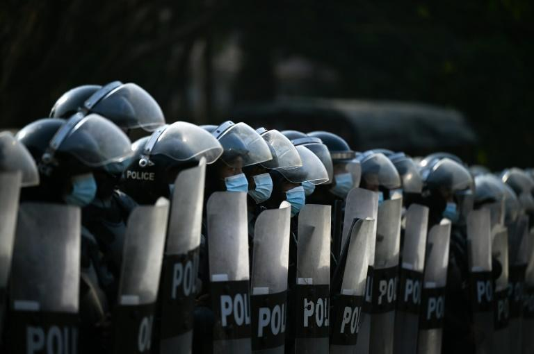 There has been a large-scale deployment of riot police, though there have been no reports of clashes so far
