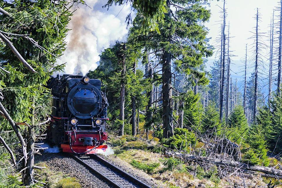 "<p>Taking you high up into northern German's scenic Harz Mountains, the Brocken Railway chugs along the tracks through fairytale villages. The views are straight out of a postcard and taking this great train journey is a wonderful way to join locals and commuters who use the route regularly.</p><p>Two restored vintage steam locomotives handle the services, giving you a nostalgic experience, which takes you 1,125 metres above sea level to Brocken Station.</p><p><strong>Ride the Brocken Railway during Good Housekeeping's delightful rail tour through Germany from £599 per person. </strong></p><p><a class=""link rapid-noclick-resp"" href=""https://www.goodhousekeepingholidays.com/tours/germany-harz-mountains-train-wenigerode-rail-tour"" rel=""nofollow noopener"" target=""_blank"" data-ylk=""slk:FIND OUT MORE"">FIND OUT MORE</a></p>"