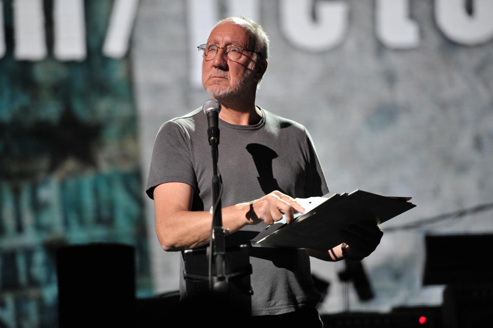 Pete Townshend performs at
