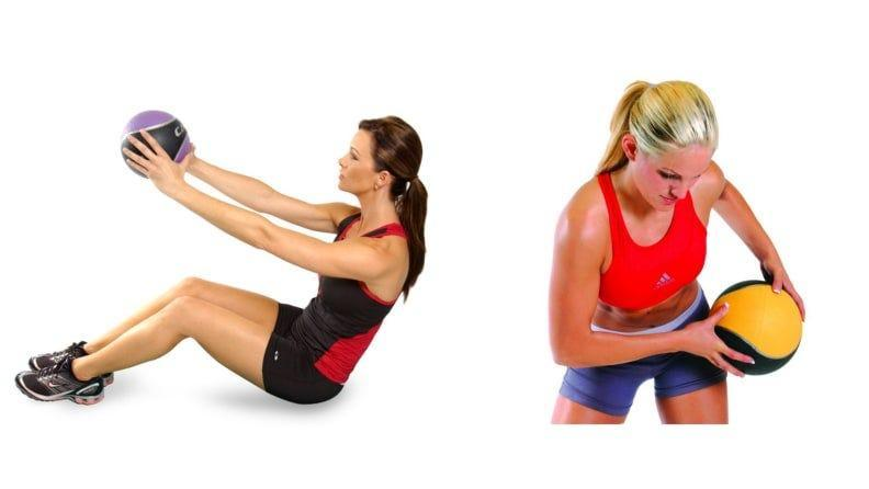 Add weight to your core workouts with medicine balls.