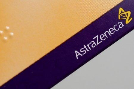 FILE PHOTO: The logo of AstraZeneca is seen on a medication package in a pharmacy in London April 28, 2014. REUTERS/Stefan Wermuth/File Photo