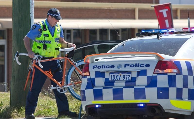 Bike crash in Osborne Park: Gwelup man, 35, had head injuries and was due to have surgery in Royal Perth Hospital yesterday. Picture: Michael O'Brien/The West Australian