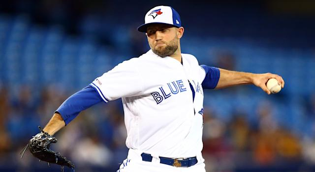 Tim Mayza has been removed from the Toronto Blue Jays' 40-man roster. (Photo by Vaughn Ridley/Getty Images)