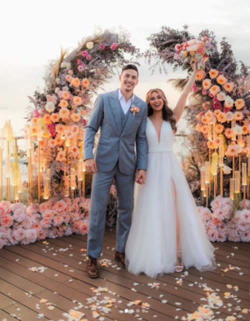 The couple just got married last month