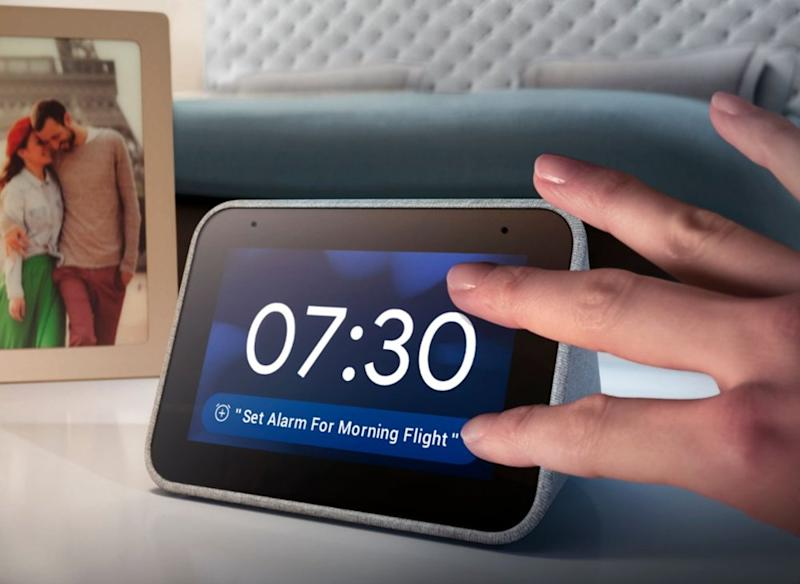 Save $20 on the Lenovo Smart Clock. (photo: Best Buy)